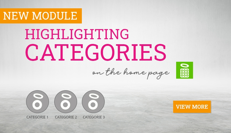 Highlighting categories on the home page